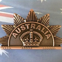 Rising Sun Cap Badge - 1st Version | Feb 1902