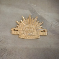Rising Sun Cap Badge - 7th Design (Current)
