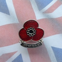 Poppy Lapel Pin / Badge # 38