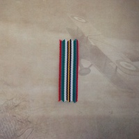 ANNIVERSARY OF  AUSTRALIAN NATIONAL SERVICE 51-72 MEDAL RIBBON - 1 x METER MINI
