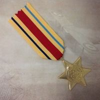 AFRICA STAR MEDAL | GOLD TONE | WWII | WORLD WAR TWO | MILITARY | AUSTRALIA