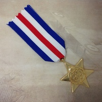 FRANCE & GERMANY STAR MEDAL | GOLD TONE | WWII | WORLD WAR TWO | CAMPAIGN