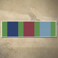 NEW ZEALAND DEFENCE MEDAL  DECAL | STICKER | 45mm x 15mm | 7yr WATER + UV PROOF