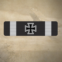 1914 GERMAN IRON CROSS STICKER / DECAL 120mm x 30mm  |  7YR UV + WATER RATED