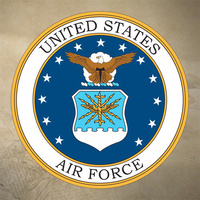 USAF DECAL STICKER | 75mm DIAMETER | 7yr WATER + UV PROOF | U.S. AIR FORCE