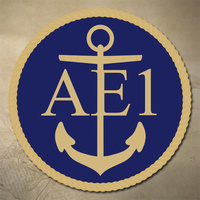 ROYAL AUSTRALIAN NAVY AE1 EMBLEM DECAL | STICKER | 75MM DIAMETER | MARINE