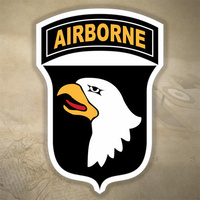 US 101st AIRBORNE UNIT DECAL STICKER | LGE | 149mm x 216mm | 7yr WATER + UV PRF