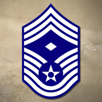 "USAF CHIEF MASTER SERGEANT DECAL STICKER | 3"" x 4.6"" 