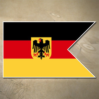 GERMAN NAVY FLAG STICKER | ENSIGN | STICKER | 100mm x 60mm | DEUTSCHE MARINE