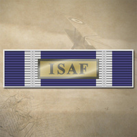 NATO ISAF MEDAL BAR DECAL | STICKER | 90mm x 26mm | 7yr WTR + UV PROOF | UN