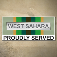 AUSTRALIAN ASM 1975+ (WEST SAHARA) MEDAL DECAL - PROUDLY SERVED | 150MM X 65MM | AUSSIE | PRIDE | MILITARY