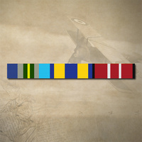 AUSTRALIAN OPERATIONAL SERVICE MEDAL, NATIONAL AND ADM MEDAL RIBBON BAR STICKER / DECAL | WATER & UV PROOF