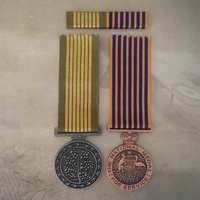 NATIONAL EMERGENCY MEDAL + NATIONAL MEDAL PAIR + RIBBON BAR