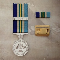 AUSTRALIAN SERVICE MEDAL (ASM) 1945 - 1975 + BAR WITH PNG CLASP AND MOUNT