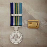 AUSTRALIAN SERVICE MEDAL (ASM) 1945 - 1975 WITH KOREA CLASP AND FULL SIZE MOUNT