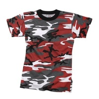 Kids Red Camo T-Shirt | COMBAT | DRESS | PLAY | ARMY