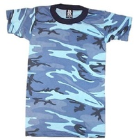 Kids Blue Camo T-Shirt | COMBAT | DRESS | PLAY | ARMY