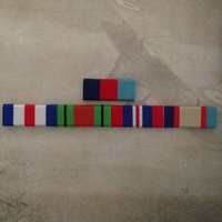 1939-45 Star, F&G Star, Defence, 1939-45 War and 1939-45 ASM Medal Ribbon Bar