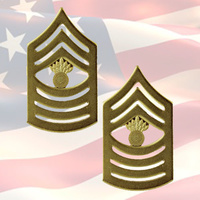 U.S.M.C - MASTER GUNNERY SERGEANT CHEVRONS | PAIR | 22K GOLD PLATED | OR-9