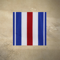 "US SILVER STAR MEDAL RIBBON 12"" INCHES 