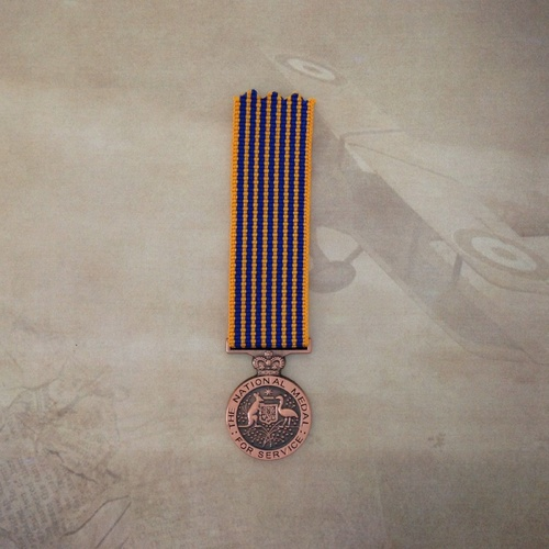 NATIONAL MEDAL | MINIATURE | NAT | MILITARY | AUSTRALIA | SERVICE