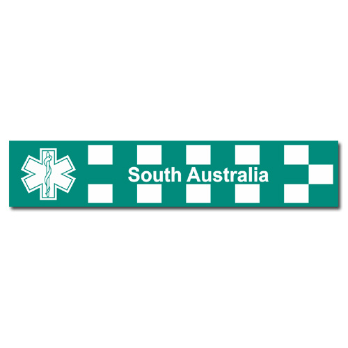 SOUTH AUSTRALIA PARAMEDIC DECAL 125MM X 25MM | STICKER | INDOOR / OUTDOOR | EMT | EMS | EMERGENCY | SERVICE