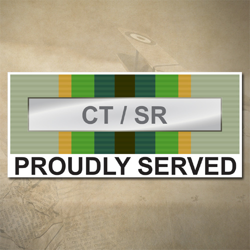 AUSTRALIAN ASM 1975+ (CT / SR) MEDAL DECAL - PROUDLY SERVED | 150MM X 65MM | AUSSIE | PRIDE | MILITARY